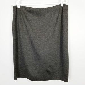 6a9940aab5 Kasper Gray Ponte Slim Stretch Pencil Skirt Sz 16